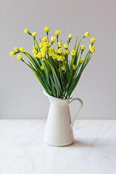Arma House İtalyan Saksıda Sarı Chetori to Yapay Çiçek Sarı
